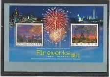 Austria Austria hong kong china 2006 Fireworks bl. 35 crystals Swarovski mnh
