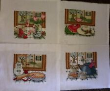 4 Finished/Completed Cross Stitch, The Four Seasons, 4 Separate Pictures