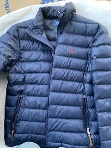 Polo Ralph Lauren Men's Down Jacket Packable   Lightweight Puffer Navy Blue