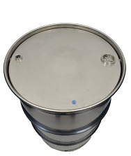 55 Gallon 301 Stainless Steel Drum Closed Top New Other Thick 34 Amp 2 Inch Bungs
