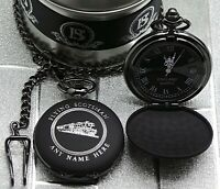 FLYING SCOTSMAN Pocket Watch and Chain PERSONALISED ENGRAVED Steam Train Railway