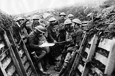 Framed Print - World War 1 Soldiers in the Trenches (Picture Poster WW1 WW2 Art)