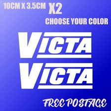 victa decal stickers x2 car ute drift hoon toolbox