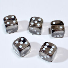 25 Stück 12mm Transparent Smoke Knobel Würfel / Augen Würfel Frobis Spielwürfel
