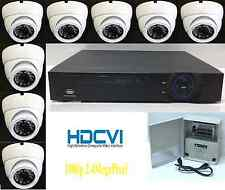 Professional HD-CVI 1080p 8Channel Security Camera System, 2.4MP IR Dome x8, 2TB