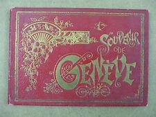 rare album souvenir Genève Suisse 16 lithographies 19ème siècle damond coulin