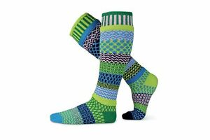 Solmate Mismatched Recycled Cotton Knee High Socks Water Lily