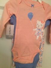"Newborn baby girl 3 pc Carter's ""Mommy's Sweetheart"" 888510751724"