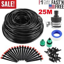 25M Water Irrigation Kit Set Micro Drip Watering System Auto Plant Garden Adjust