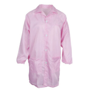 Women Man Workwear Uniform Lab Coat Dress 4 Colors Size S-XXXL for Choice