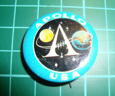 Apollo Space flight USA NASA pin 60'S vtg speldje pinback button