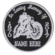 "In Loving Memory Of ... Custom 3"" Biker patch"