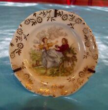 Ancienne Miniature porcelaine de limoges érotisme Fragonard amour au jardin