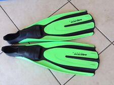 MARES PLANA ARONTITRE, Fins Size  5-6, 38-39,  small GREEN, Scuba Fins , Snorkle