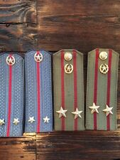 Military Epaulettes Russian Shoulder Boards Pins and Buttons Collection