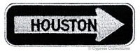 HOUSTON ONE-WAY SIGN EMBROIDERED IRON-ON PATCH applique TEXAS SOUVENIR ROAD