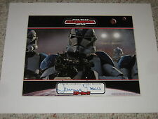"""COOL!! TEMUERA MORRISON SIGNED PHOTO WITH 11x14 MAT """"STAR WARS"""" """"CLONE TROOPER"""""""