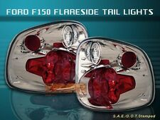 97-00 FORD F150 F-150 FLARESIDE TAIL LIGHTS CLEAR 98 99