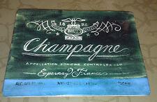 Brut Champagne of France Epernay Frances 1892 750 mle collectors plate