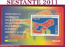 TESSERA FILATELICA FRANCOBOLLO CELEBRATIVO FONDAZIONE ARSENALE VENEZIA 2004 F58