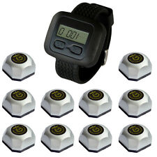 SINGCALL Wireless Waiter Calling Paging System.10 one-button Bells,1 Watch