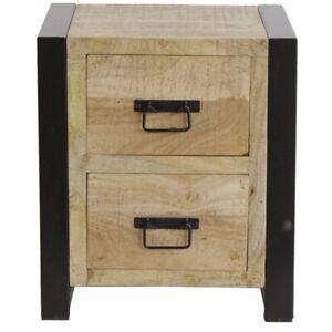 Harbour Reclaimed Wood Bedroom Storage Furniture 3-Drawer Bedside Cabinet Table