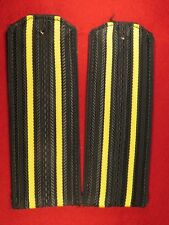 Captain 3rd rank- Captain 1st rank slip on shoulder boards for service uniform.