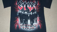 (2-Sided) STYX Band Photo Concert T-Shirt SMALL World Tour Mens Womens Journey