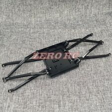1/10 SCALE AXIAL WRAITH ALUMINUM SKID PLATE WITH 8 SUSPENSION LINKAGE ARM BLACK