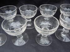 Verres a porto verre soufflé taillé époque 19ème