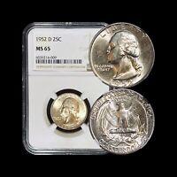 1952 D Washington Quarter (Silver) - NGC MS 65 (GEM UNC)