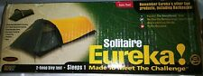 Eureka Solitaire Tent 1 Person 3 Season Camping Yellow Black Preowned GC!
