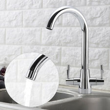 New Kitchen Mono Sink Tap Luxury Designer Modern Mixer Twin Lever Swivel UK.