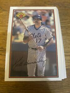 (50) 1989 Keith Hernandez #385 New York Mets NR-MT+ Recent Set Breaks