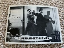 """Topps TV Show Superman 1966 trading card #51 """"Gets His Man"""" Rare Centered! BIN"""