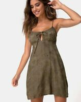 Kumala Slip Dress in Satin Rose Silver Grey by Motel Size XS