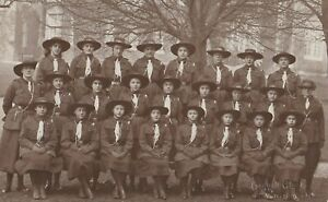 OLD PHOTO GIRL UNIFORM BROWNIES GUIDES WOLVERHAMPTON 1910S RR24