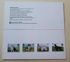 GB 1979 perros Harrison presentación Pack Sellos Mint SG 1075-1078 ver #1431+