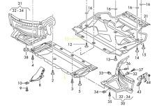 Audi RS7 14 - 17 OEM Engine Splash Shield Guard 4G0863821L 4G0863821K GENUINE