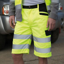 Result Safe-Guard Safety Cargo Shorts Hi Vis Work Wear Multi Pocket (R328X)