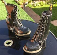 Dr Martens Darcie black patent leather boots UK 5 EU 38 heels
