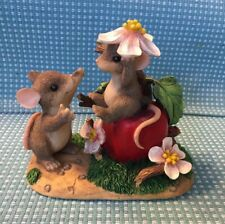 Fitz & Floyd Charming Tails 2000 Apple Of My Eye Limited Edition Figurine