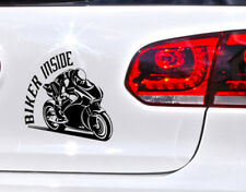 Biker Inside motocicleta pegatinas auto tuning sticker Ghost Rider Moto Cycle