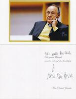 Hans-Dietrich Genscher, Vizekanzler+Minister, eigenh.signierte Klappkarte, Foto
