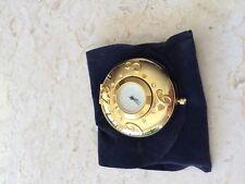 ESTEE LAUDER CLOCK POCKET WATCH Pressed Powder Compact Lucidity