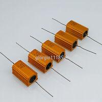 US Stock 5pc 470 ohm 470R 5W Watt Aluminum Housed Metal Case Wirewound Resistors