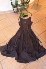 BORIS INDUSTRIES Kleid Raffungen Bänder 40 42 (2) NEU! grau A-Form LAGENLOOK