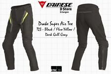 DAINESE DRAKE SUPER AIR TEX PANTS BLACK FLUO YELLOW DARK GRAY SIZE EU 54 US 44