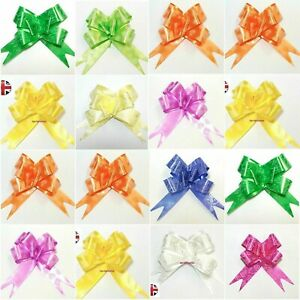 10-50 Large Bow Pull Ribbon Flower for wedding car gift wrap party decoration UK