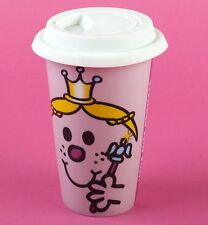 MISS PRINCESS Face TRAVEL MUG Ceramic Mug with Lid - PINK